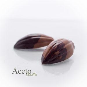 Een karamel gemaakt met Aceto Balsamico van de Pedro Ximenez druif.