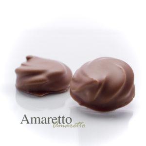 Een ganache gemaakt met de zachte smaak van ameretto.