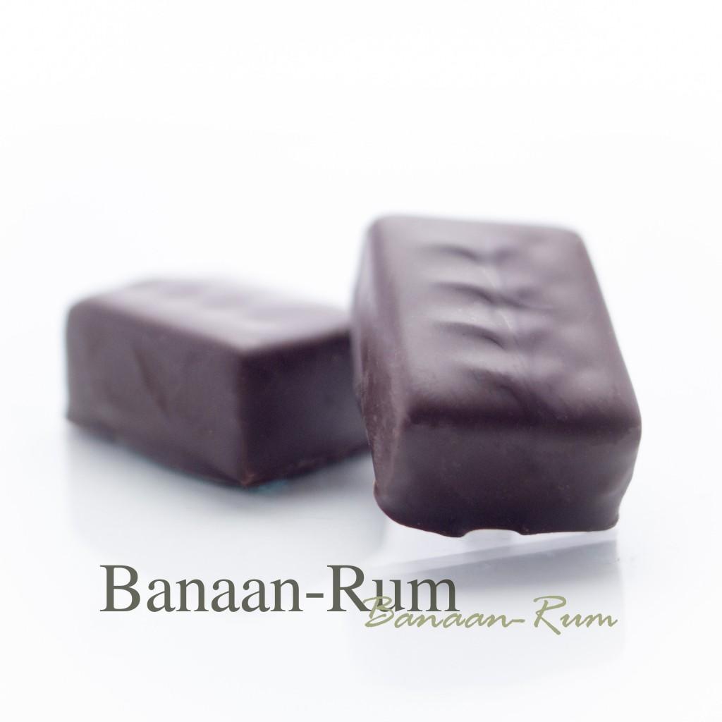 Een tropisch combinatie tussen banaan en een rum ganache.