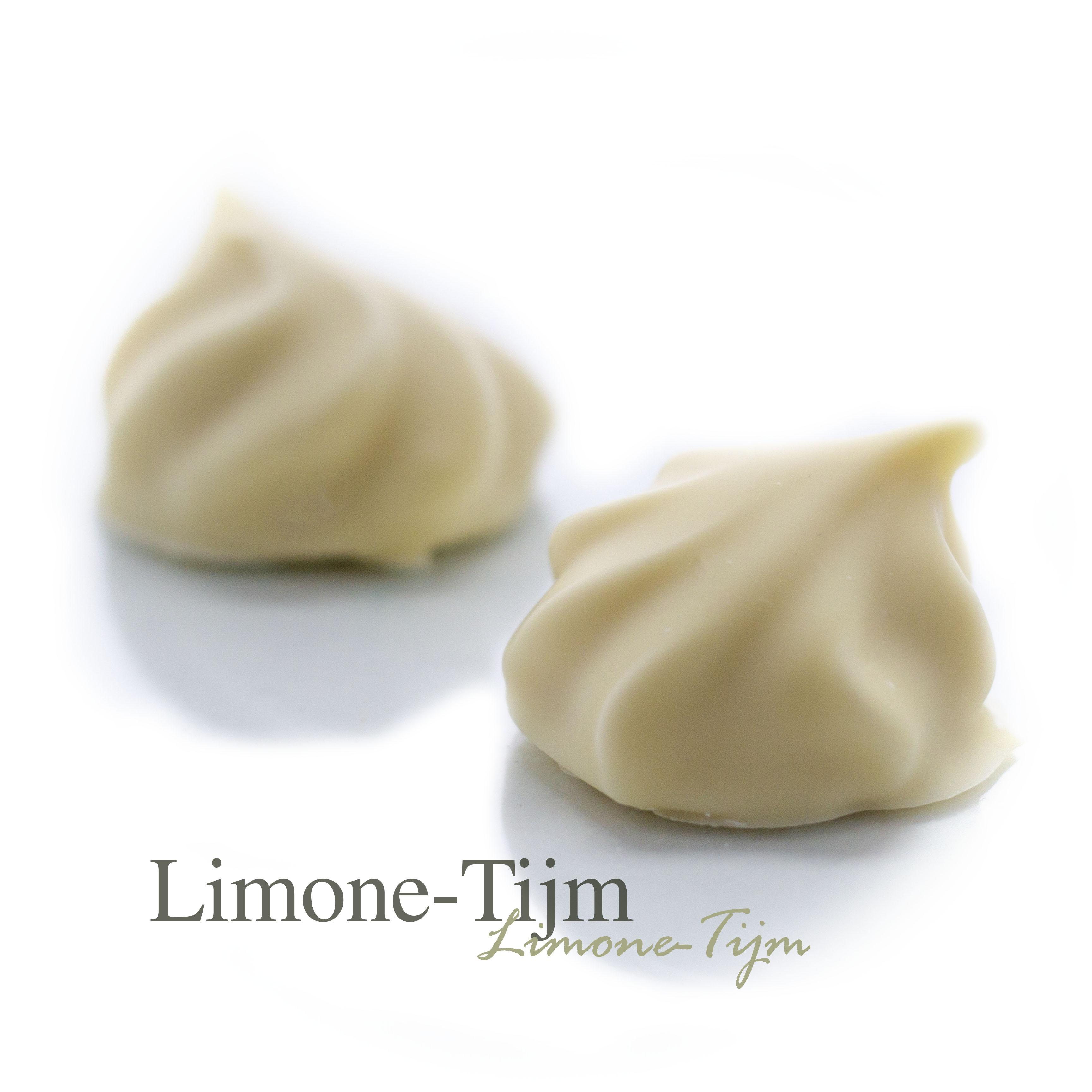 Een frisse citroen ganache met Limoncello en de kruidige smaak van tijm.