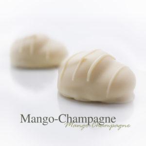 Zachte mango met Marc de Champagne, de ultieme combinatie.